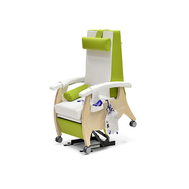 Pflegesessel MultiCare Wood 84513464R SiLeather weis limone 1 - MultiCare Wood Pflegesessel 84513