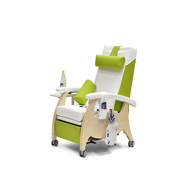 Pflegesessel MultiCare Wood 84513464R SiLeather weis limone td2 - MultiCare Wood Pflegesessel 84513