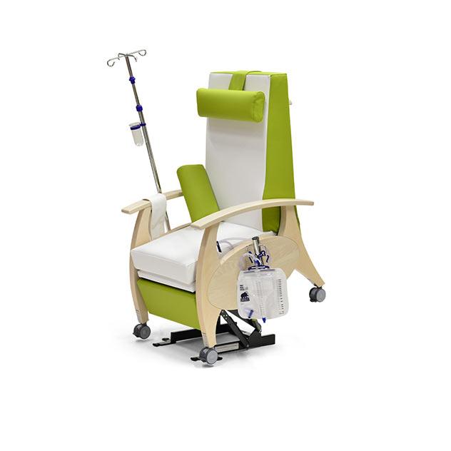 Pflegesessel MultiCare Wood 8513464R gruenweiss ov - Pflegesessel mit Doppelmotor & motorischer Aufstehhilfe
