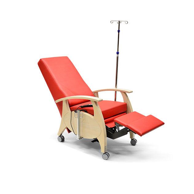 Pflegesessel MultiCare Wood 8513464R rot 8 - MultiCare Wood Pflegesessel 8513