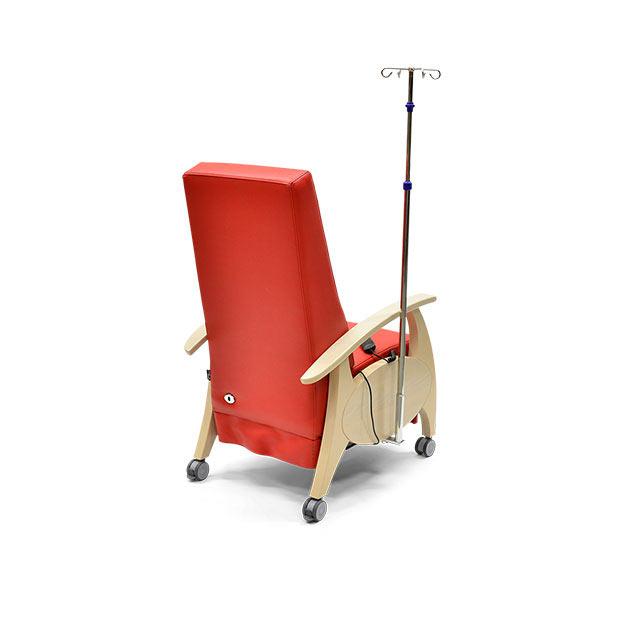 Pflegesessel MultiCare Wood 8513464R rot td1 - MultiCare Wood Pflegesessel 8513