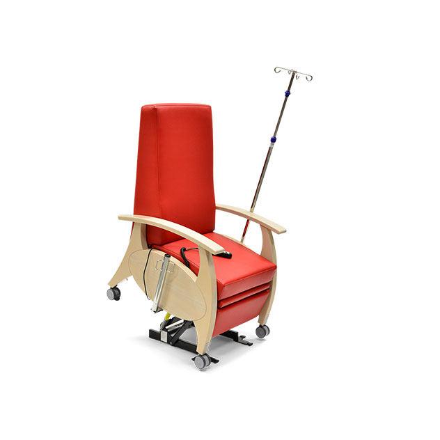 Pflegesessel MultiCare Wood 8513464R rot td2 - MultiCare Wood Pflegesessel 8513