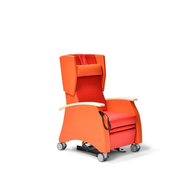 Pflegesessel MultiCare 91509460R rot orange Ahorn 1 - MultiCare Pflegesessel 91509