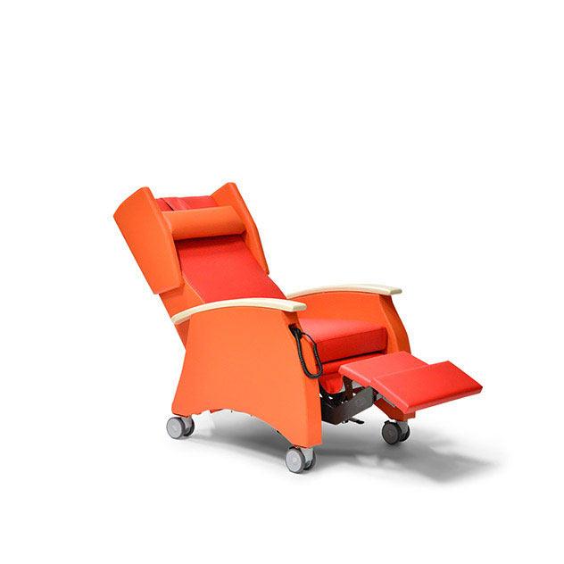 Pflegesessel MultiCare 91509460R rot orange Ahorn td1 - MultiCare Pflegesessel 91509