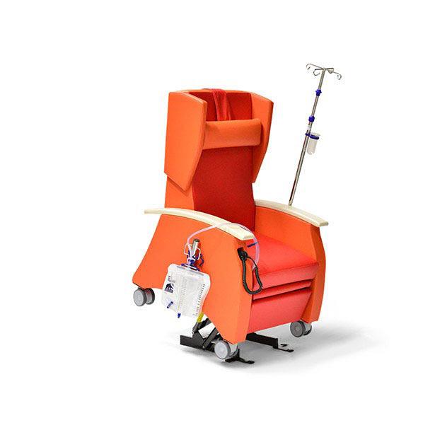 Pflegesessel MultiCare 91513460R rot orange ov - Pflegesessel mit Doppelmotor & motorischer Aufstehhilfe