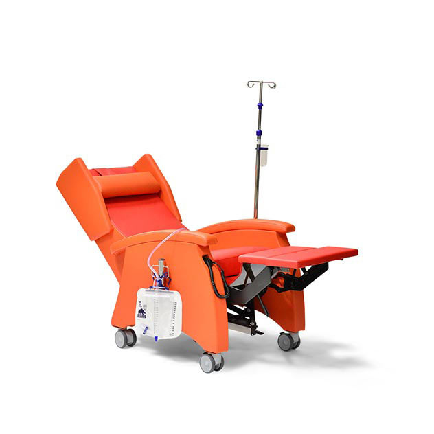 Pflegesessel MultiCare 95513460R orange rot zubeoer td1 - MultiCare Pflegesessel 95513