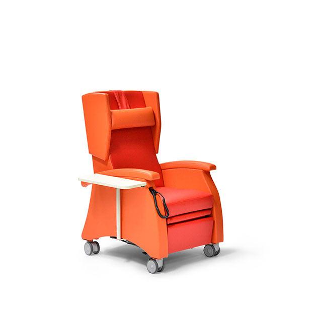 Pflegesessel MultiCare 95509460R orange rot zubehoer 3 - MultiCare Pflegesessel 95509