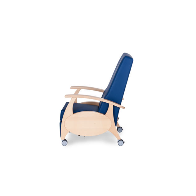 Therapiesessel MultiCare Wood 8500414R blau 2 - MultiCare Wood 8500 Sichtholz