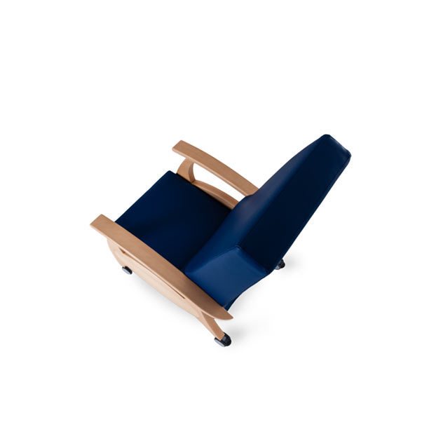 Therapiesessel MultiCare Wood 8500414R blau 4 - MultiCare Wood 8500 Sichtholz
