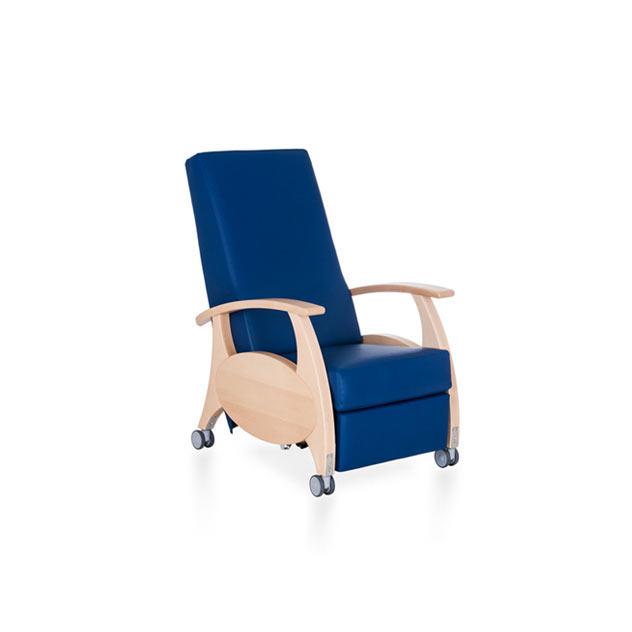 Therapiesessel MultiCare Wood 8500414R blau ov - Mechanischer Ruhesessel
