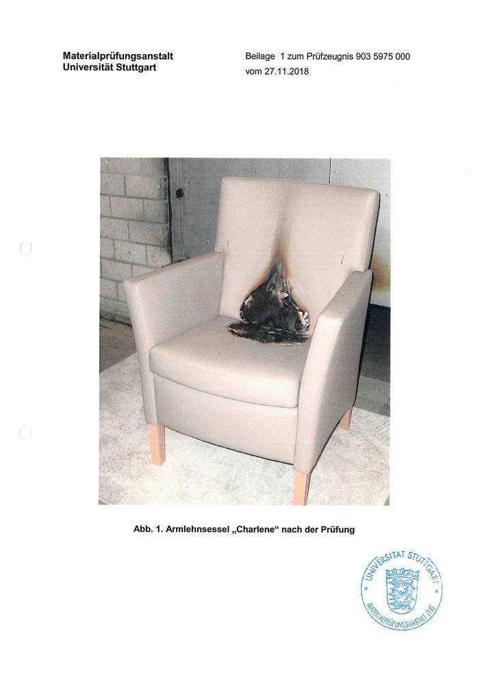 MPA Zertifikat Charlene Sitzgruppe S 60143110 0002 2019 10 1 4 7 5 - Zertifizierungen