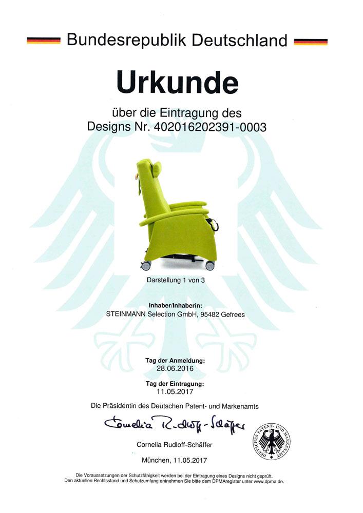 Patenturkunde MultiCare 402016202391 0003 - Patente