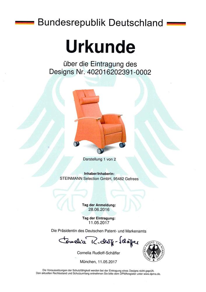 Patenurkunde MultiCare 4020 16202391 0002 - Patente