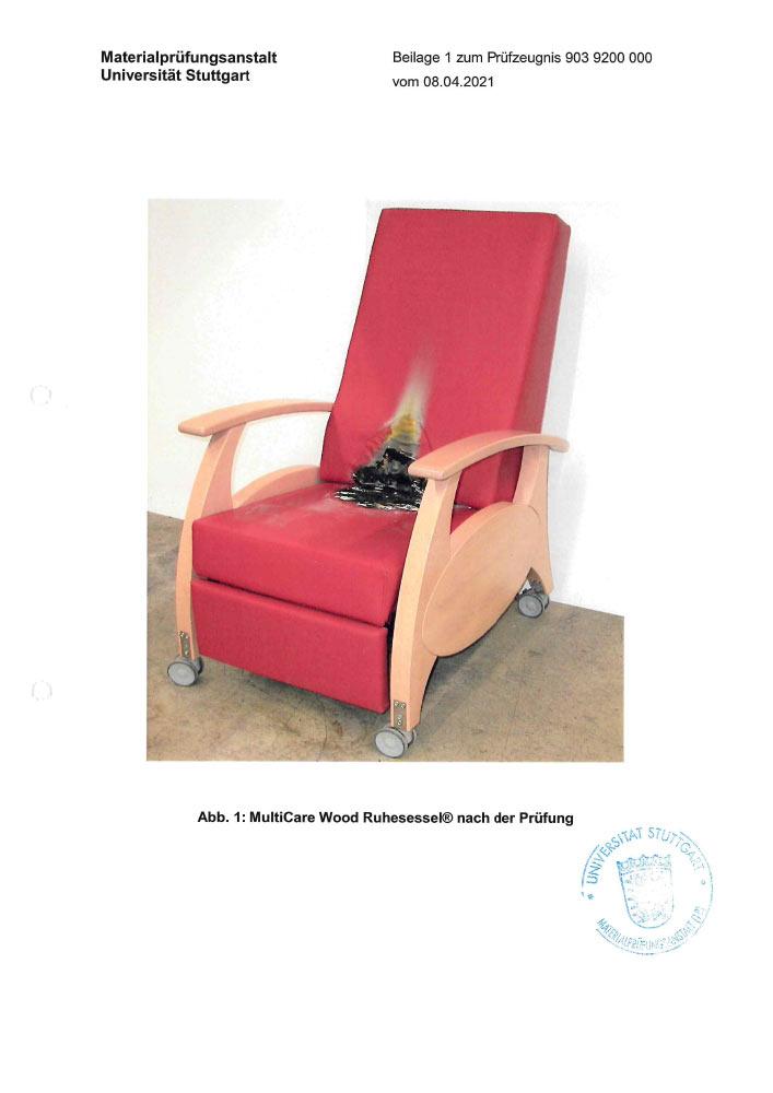 Pruefzertifikat MultiCare 9 MultiCare Wood Pruefberichtnr 903 9200 000 4 - Zertifizierungen