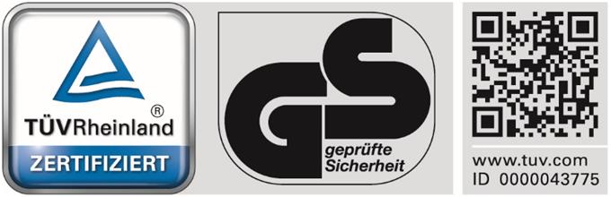 TUEV Rheinland 43775 - Zertifizierungen